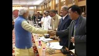 Prime Minister Narendra Modi meets Chief Ministers from across India