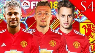 NEYMAR, MILINKOVIC-SAVIC, JANUZAJ SIGN! FIFA 18: MANCHESTER UNITED CAREER MODE S4 #1