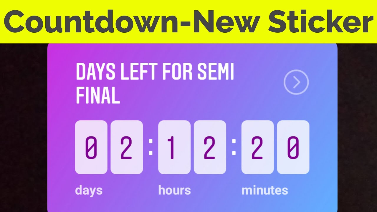 How To Use Countdown Timer Feature On Instagram StoryInsta New Update