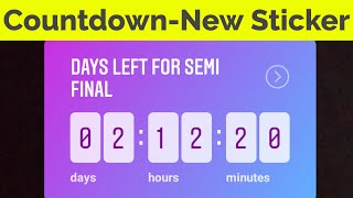 How To Use Countdown Timer Feature On Instagram Story Insta New Update Youtube