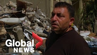 """""""I'm destroyed"""": Syrian father loses daughters and wife in Beirut explosion"""
