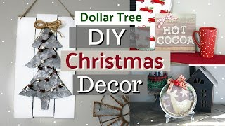 Dollar Tree Christmas Home Decor DIYS | Farmhouse Christmas Decor Ideas | Krafts by Katelyn