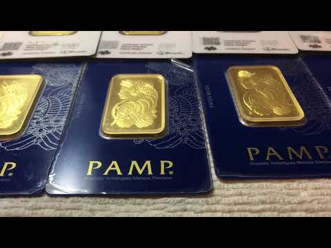 Bullion Exchanges Unboxing Video of 10 PAMP Suisse Gold 1 oz Lady Fortuna Bars