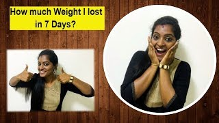 GM Diet Result in Tamil - How to Lose Weight fast #MyWeightLossJourney #Detoxify #HealthyDiet
