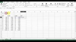 Kursberechnung CHF-EUR in Excel