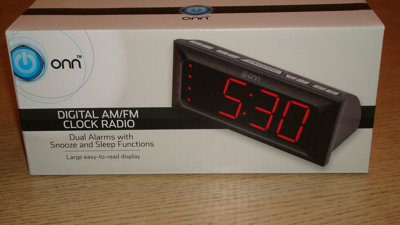 Onn Clock Radio You