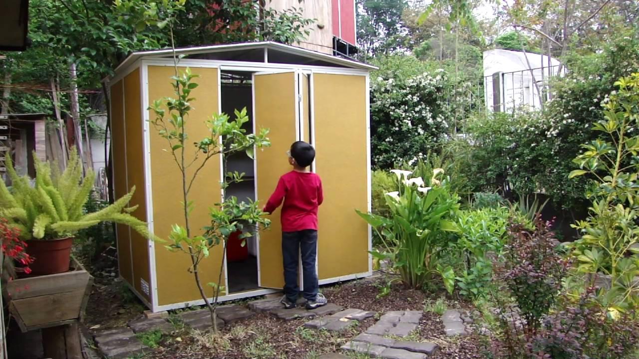 Bodega para patio y jard n modelo kintun con puerta for Bodegas de jardin chile