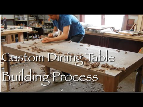Contemporary Dining Table Building Process By Doucette And Wolfe Furniture Makers You