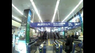 【4K乗換動画】東京モノレール 浜松町駅ー都営大江戸線 大門駅 乗換