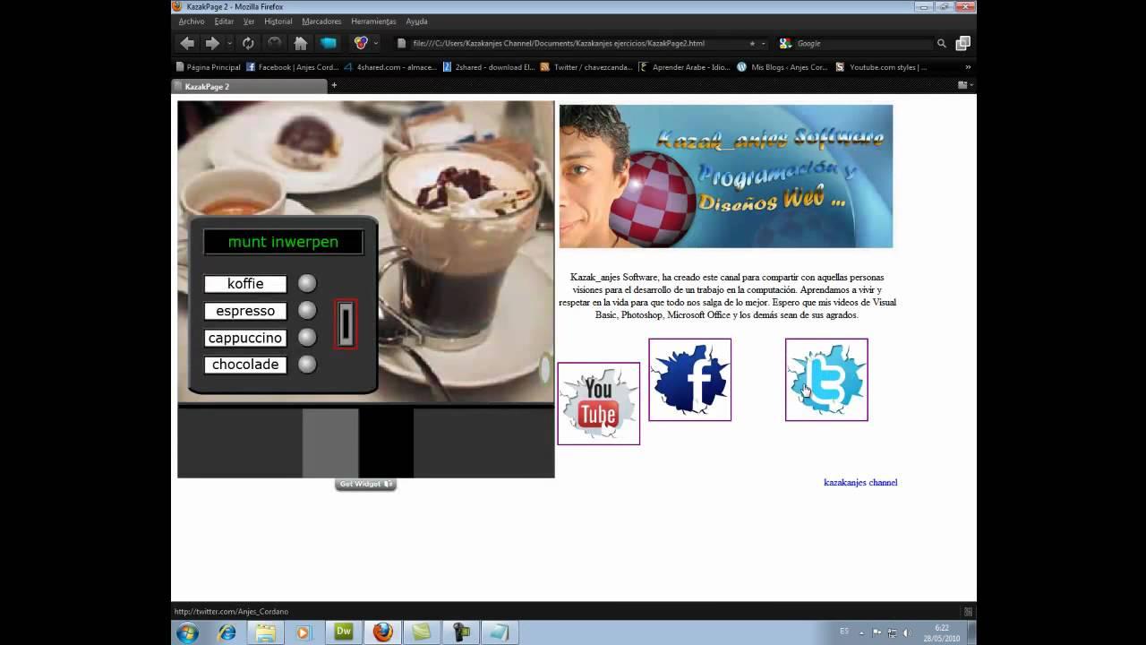 Como diseñar una pagina web con Dreamweaver (Video III ...