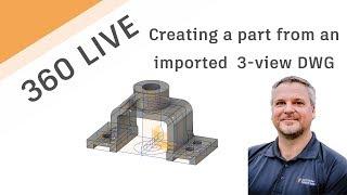 Met behulp van 2D DWG/DXF voor het maken van 3D Model