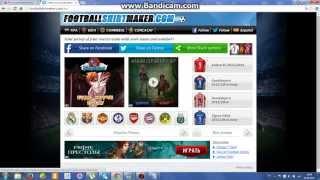 Как создать нарисованную футбольную форму со своей фамилией  на сайте footballshirtmaker.com(Ссылка на сайт: footballshirtmaker.com., 2015-08-06T16:28:24.000Z)