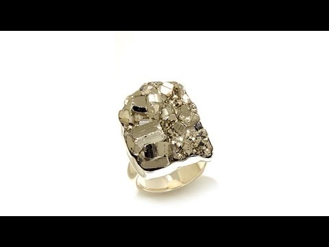Charles Albert Jewelry Pyrite Nugget Sterling Silver Ring