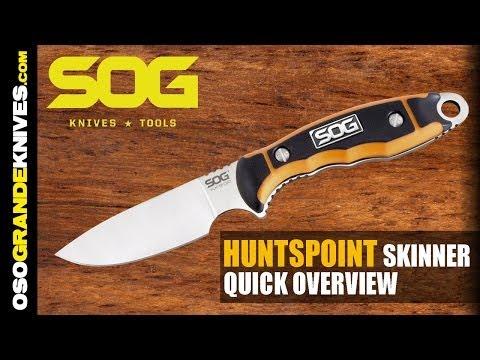 SOG Huntspoint Skinning Fixed Blade Knife HT011L