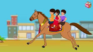 लकड़ी की काठी | Lakdi ki kathi | Popular Hindi Children Songs | Animated Songs by Ryan Kids Club