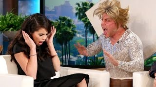Selena Gomez Gets Double Scared on ELLEN & Talks Dating Life