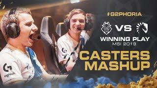 G2 vs Liquid Winning Play | MSI 2019 Casters Mashup
