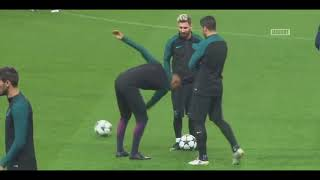Funny Moments in Training ● Messi, Neymar, C Ronaldo, D Alves, Isco