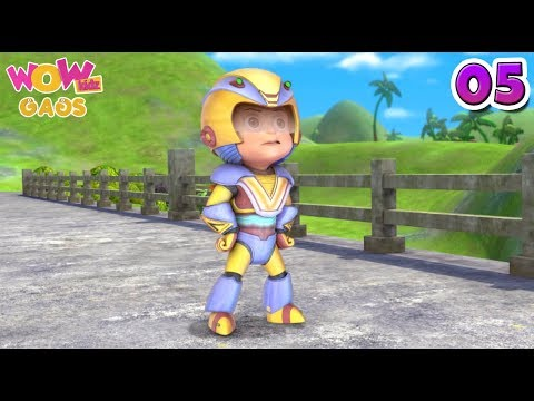 Vir: The Robot Boy   Hindi Cartoons For Kids   Action Gags - Part 5   WowKidz Gags