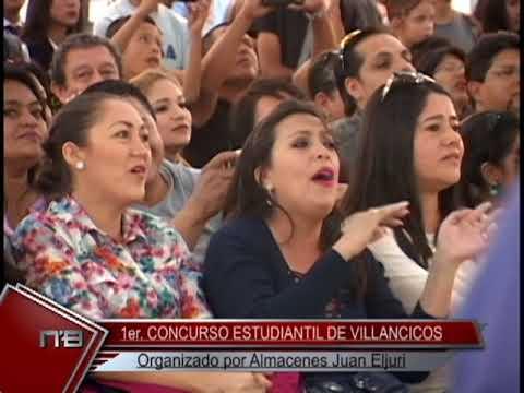 1er. Concurso Estudiantil de Villancicos organizado por Almacenes Juan Eljuri