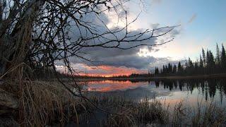 ЩУКА ИЗ ЛУЖИ НА КАЖДЫЙ ЗАБРОС Рыбалка с ночевкой в таёжном зимовье.