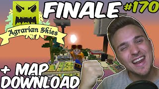 FINALE + Map Download | Minecraft Agrarian Skies #170 ☆ Hardcore Quest | LPmitKev
