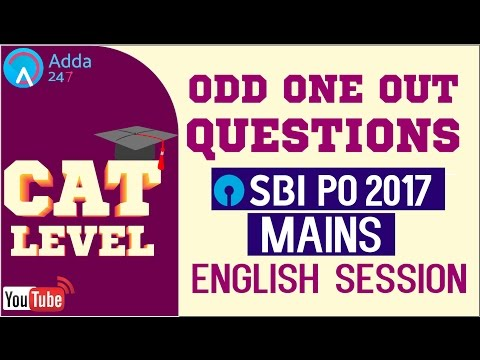 CAT Level Odd One Out Questions (English Session) For SBI PO Mains