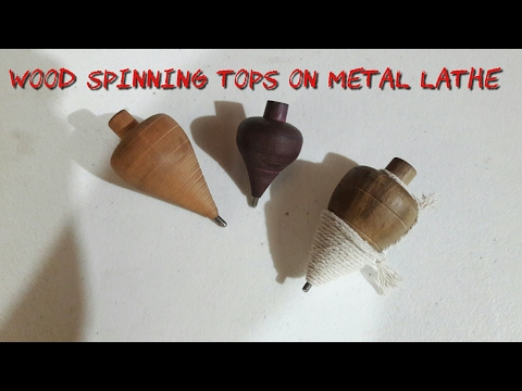 Making wood spinning tops on metal lathe