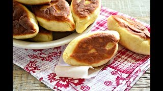 Жареные пирожки с фаршем из дрожжевого теста