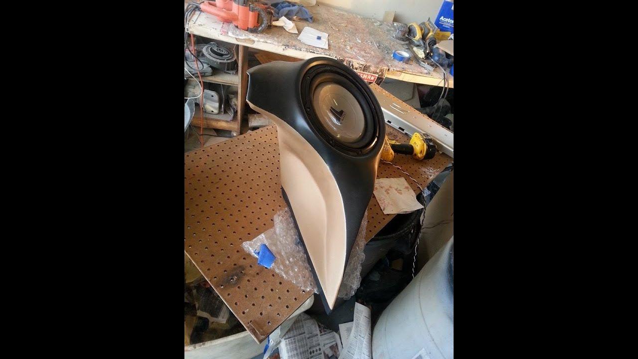 Curved fiberglass sub enclosure for 350z youtube for How is fiberglass made
