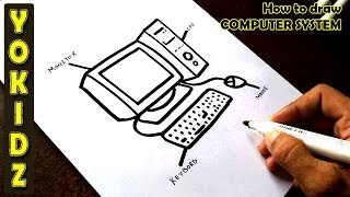 How to draw COMPUTER SYSTEM
