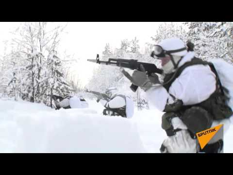 Russia: Soldiers on Skis & Snowmobiles Engage In Army Drills
