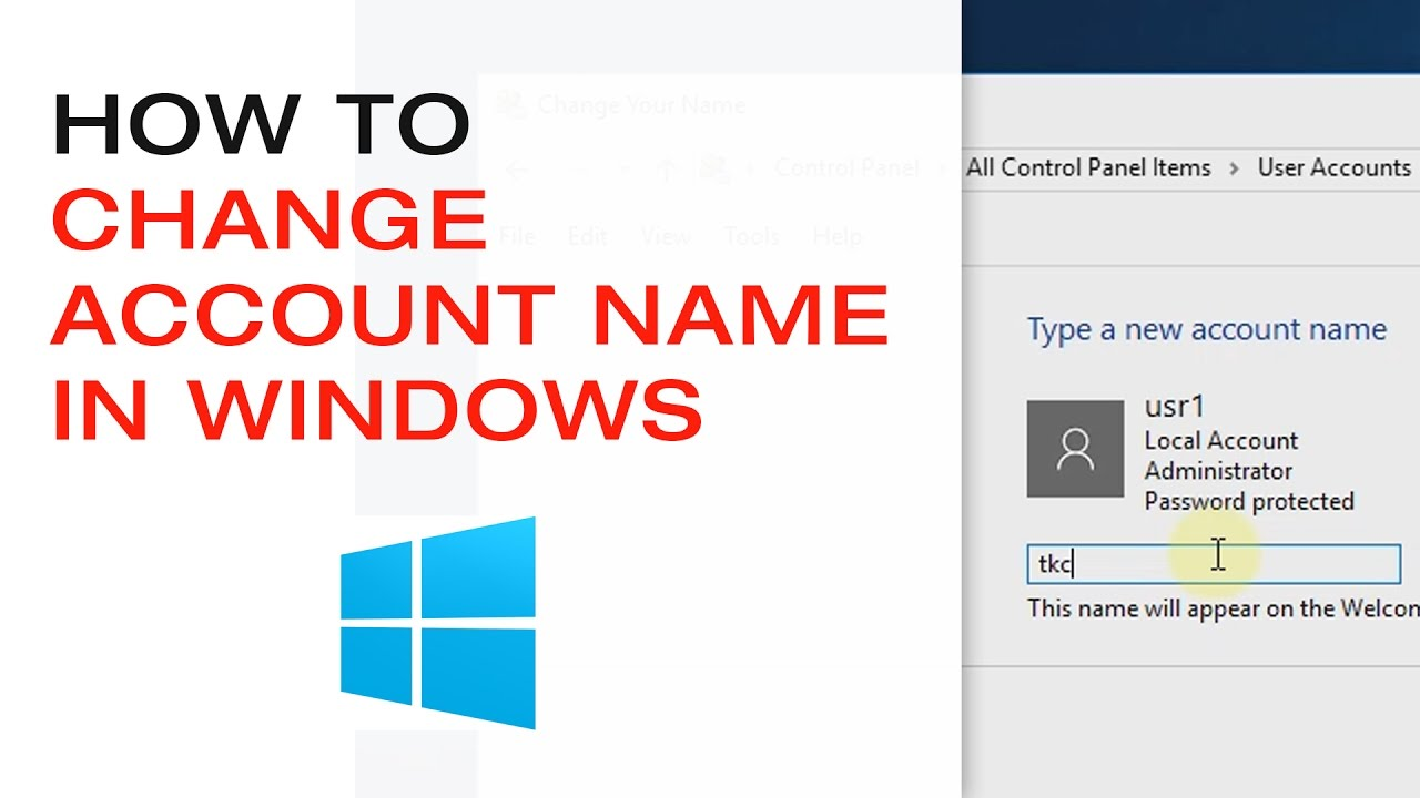 Account Name: How To Change Account Name In Windows 10