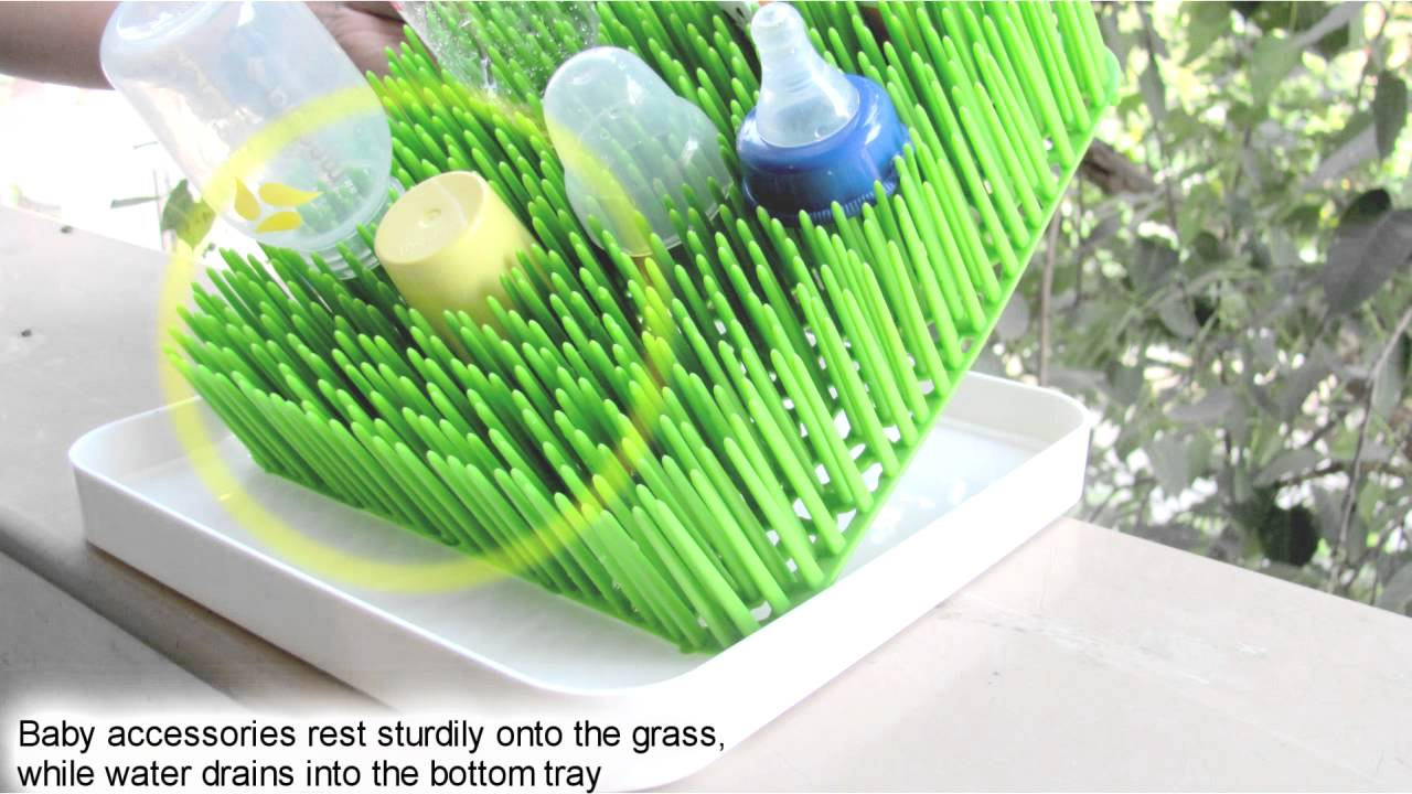 Boon Drying Rack: Grass Countertop Drying Rack Toy Review - YouTube