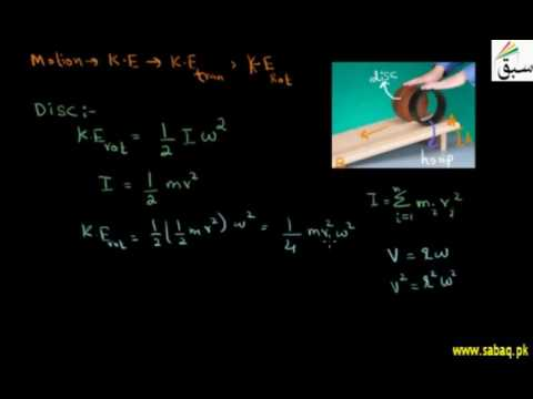 Rotational Kinetic Energy of a Disc and Hoop