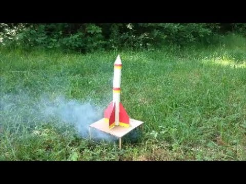 How to make a flying rocket from cardboard with your own hands .DIY