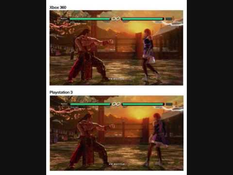 Tekken 6 Graphics Comparsion Ps3 Vs Xbox 360 Youtube