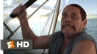 3 Headed Shark Attack (8/10) Movie CLIP - Jaws Meets Machete (2015) HD