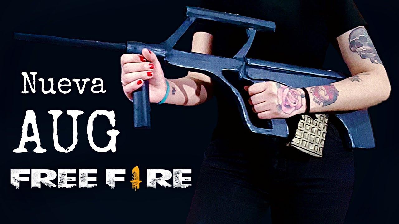 DIY- Cómo Hacer La Nueva AUG de Cartón de FREE FIRE - Hacelo Vos