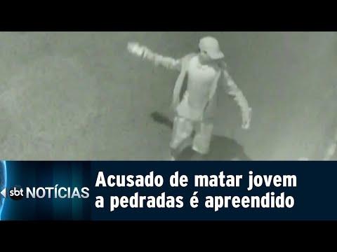 Adolescente suspeito de matar outro menor a pedradas é apreendido | SBT Notícias (12/07/18)