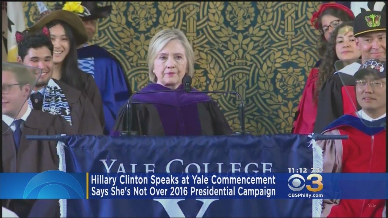 874302c6fad9e3 Hilary Clinton Brought A Russian Hat For Yale University's Commencement  Speech
