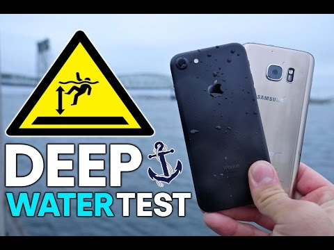 iPhone 7 vs S7 DEEP Water Test! How Deep Before It Dies?