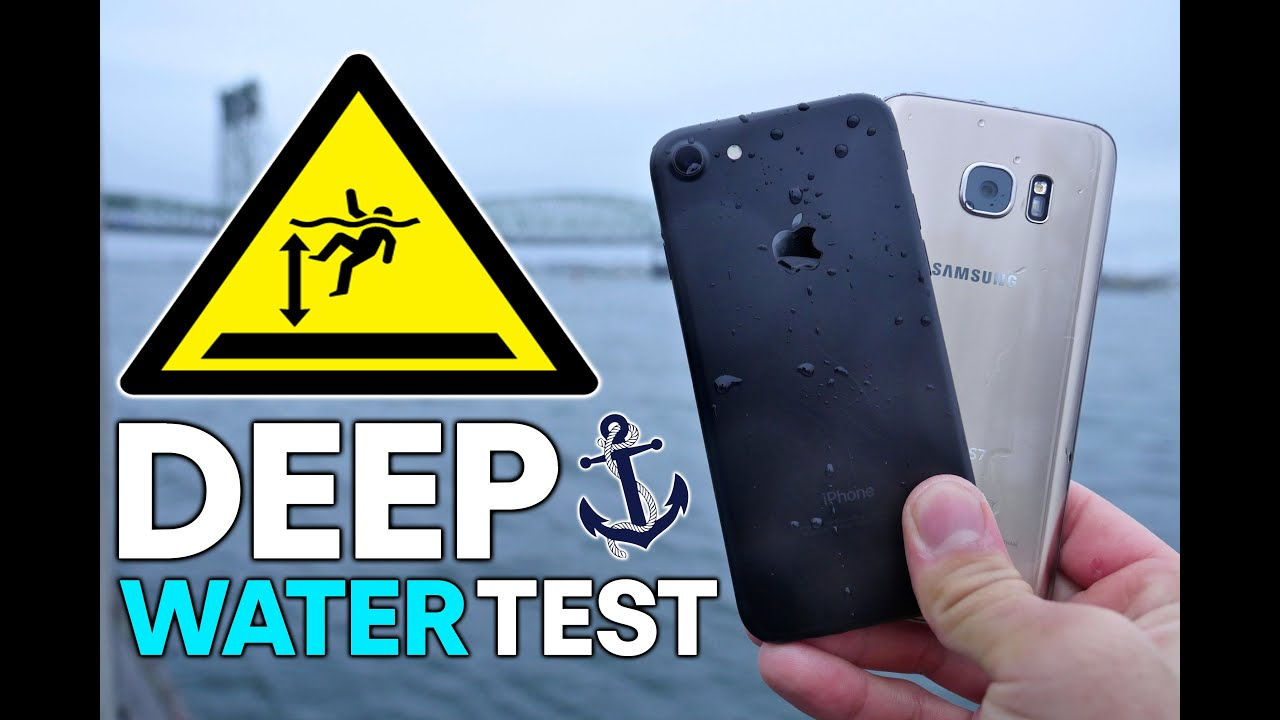 IPhone 7 Vs S7 DEEP Water Test How Deep Before It Dies