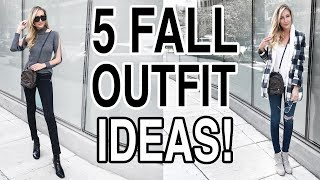 FALL TRENDS 2017: 5 CUTE FALL OUTFIT IDEAS!