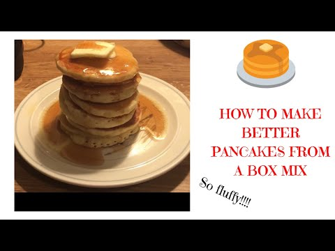How to make box pancake mix fluffier