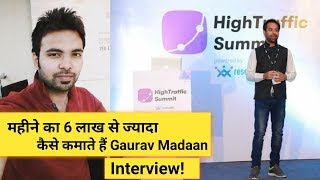 How To Earn More Than 6 Lakh Per Month By Affiliate Marketing By Gaurav Madaan   Interview