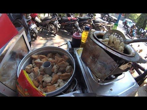 Indonesia Makassar Street Food 2107 BiCycle Fried Meatball Bakso Goreng SepedaYDXJ0405