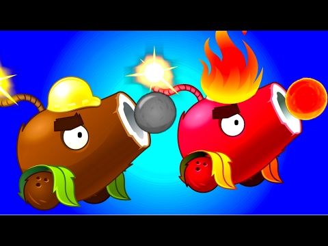 Plants vs Zombies 2 Coconut Cannon Challenge!