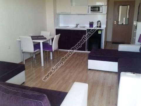 Luxury furnished studio apartment for sale in Amadeus XIX Sunny beach Bulgaria