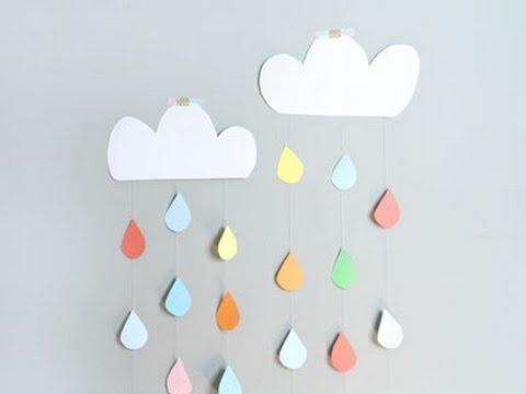 C mo hacer una cortina de nube de cartulina youtube - Como hacer una nube ...